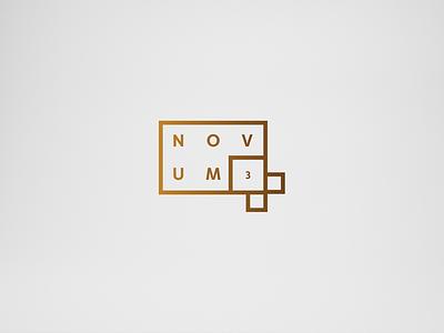 Novum - the logo rebranding logo key visual gold logotype branding brand apartments