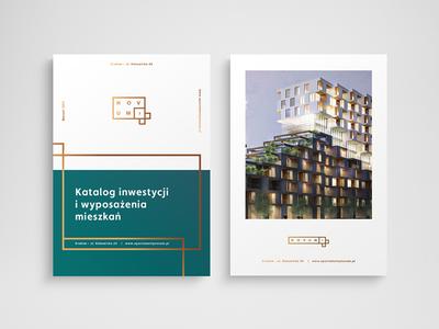 Novum - editorial rebranding logo key visual gold logotype branding brand apartments print editorial