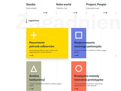 Swiss style - blocks ux ui website swiss stripes layout header desktop