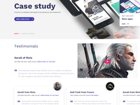 Case study with testimonials