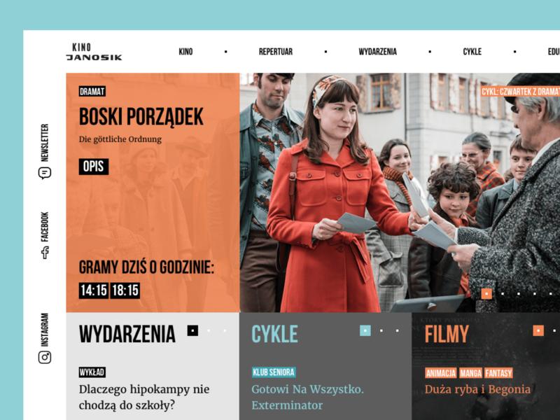 Cinema Janosik digital business process square watching watch design ui website sketch movie tickets userinterface webdesign web cinema