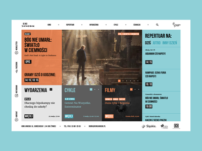 Cinema Janosik web squares watch process webdesign rwd tickets userinterface design ui website movie cinema