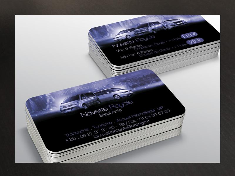 Carte De Visite Recto Verso Navette Royale Business Card Name Tour Guide Tourism Driver