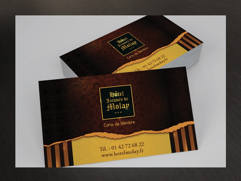 Member Card Molay Hotel elegant classy paris france contact fidelity luxury hotel vip card member