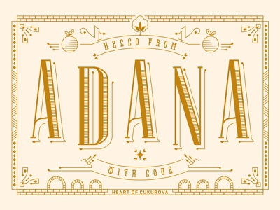 Adana Postcard history love sun east turkey bridge food kebab orange city