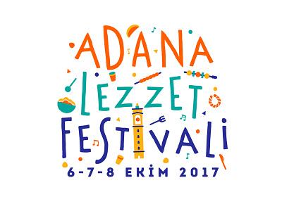 Food Fest Adana music cup spoon knife kebab fork branding logo turkey adana fest food
