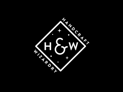 Handcraft & Wizardry potter harry black studio atelier logo wizard
