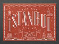 Istanbul Letterpress Postcard