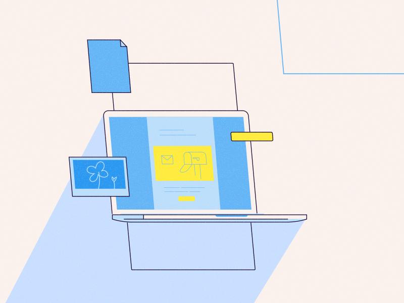 Mail box template interface mailbox inbox