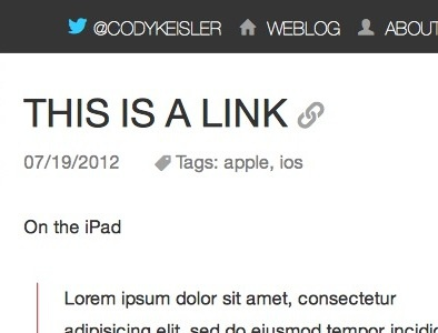 An inkling of a webpage weblog personal