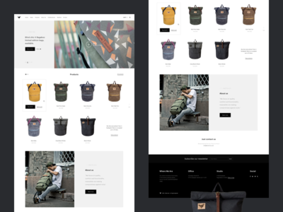 Blind Chic Home Page Concept