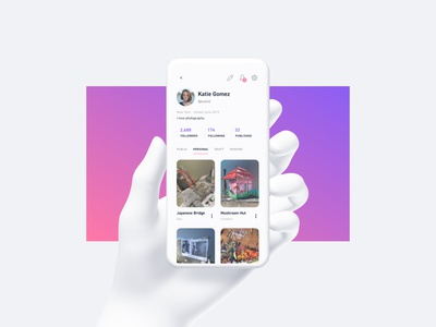 Display.land Profile ux ui app ios profile mobile uiux photogrammetry augmented reality
