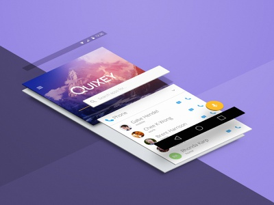 Quixey Deep Views isometric material design android phone cards serp engine mobile search deep views quixey