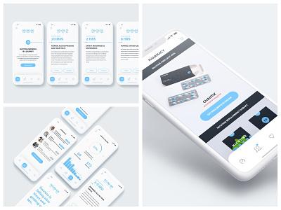 Zero By Ro: Early Mobile Concepts ro tracker ios iphonex ux ui mobile zero smoking quit medication health cessation