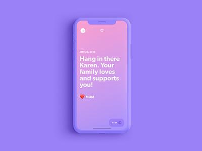 Zero by Ro: Mobile Concepts 2 gradient ui ux ios health app mobile quit cessation smoking mens health roman