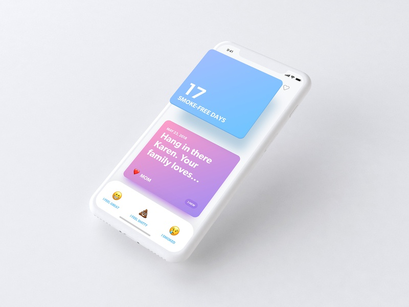 Zero by Ro: Mobile Concepts 3 ios ui ux mobile men health roman cessation smoking quit