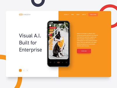 Chooch Mobile & Website Redesign interaction interface tech enterprise orange website ux  ui ios mobile artificial intelligence ai visual