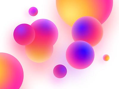 Bubbles expanse sphere gradient color bubbles