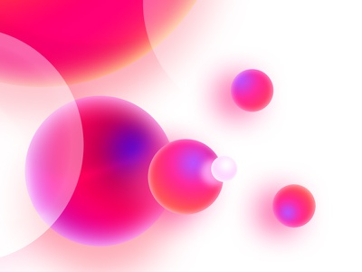 Pearl space white expanse sphere gradient color bubbles