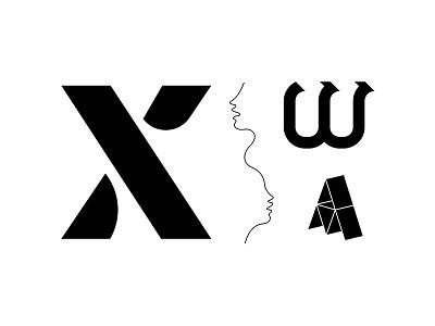 Graphic Catalog shape white type black line letter form