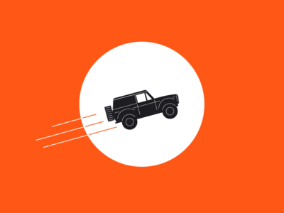 To the moon and back moon car broncos illustration art landing page root