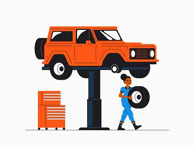 Car Repair bronco car vehicle autoshop insurance root mechanic car repair