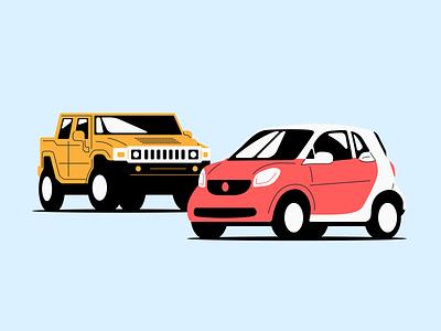 Smarter than a Hummer illustration jordanhetzer smart hummer car