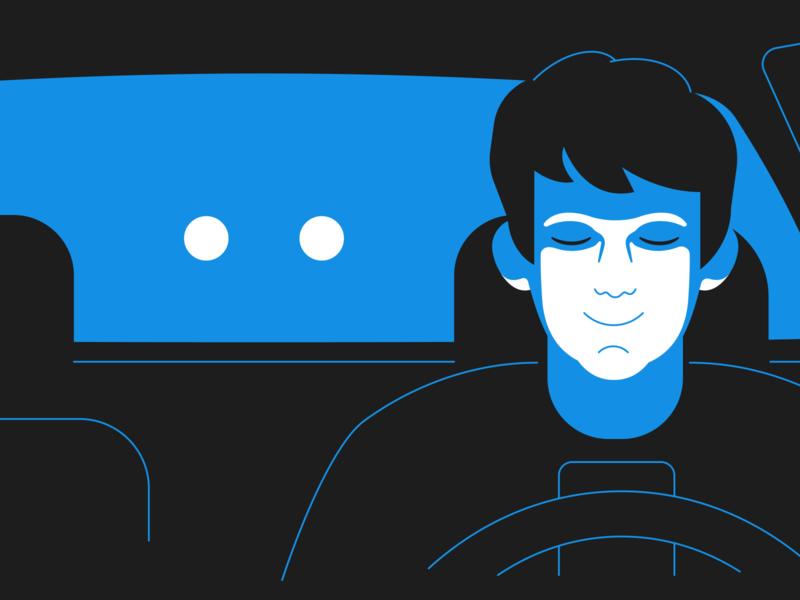 Distracted Driving blue car driving jordan hetzer mobile illustration distracted blog root