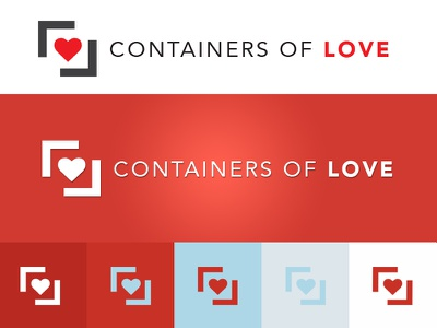 Containers of Love Logo logo design non-profit