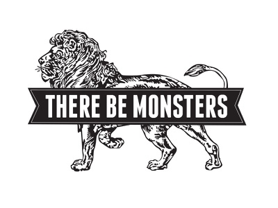 There Be Monsters logo graphic design
