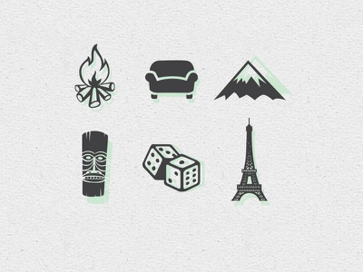 Vacation Icons illustration