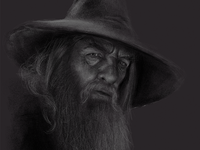 Quick Gandalf Sketch on iPad Pro