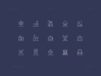 Industy icon set illustrator ai layout icon vector illustration agency grid design