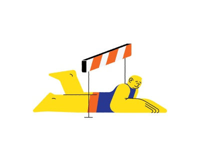 Reconciling with obstacles concept design yellow flat character line art adobe illustrator 2d character vector design character illustration character design illustration