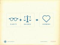 Clarity + Balance = Harmony