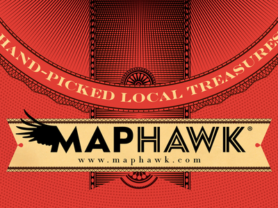 Detail for some of the cover art for the 2014 MapHawk guides