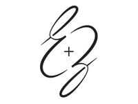 E+Z Ambigram Logo for Stenciling
