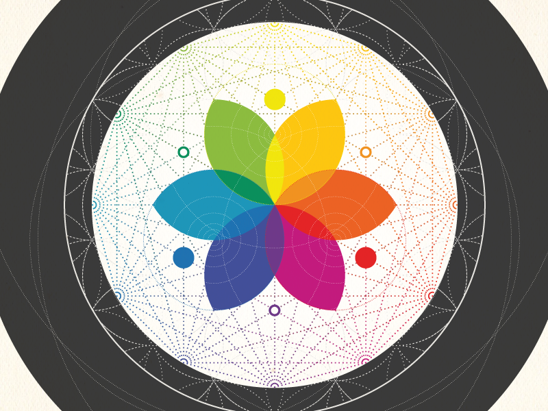 Color Wheel Of Esoteric Knowledge By Grey Jay Dribbble Dribbble