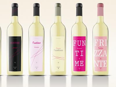 Funtime Moscatello - Sweet Wine bottle label bottle design bottle vino packaging design brand winemaker wine