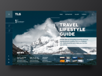 Travel Guide for Freelancer web concept webdesign ui typography corporate design travel agency guide travel