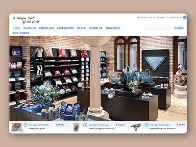 Shopsystem commerce concept design web shop