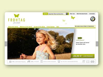 FROHTAG - Online shop for kids logo brand online shop webdesign