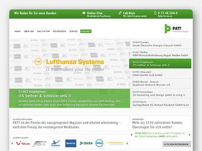 PATT - Contactboard web design webdesign ui corporate concept design