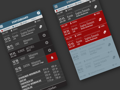 MOB STATUS Board - App mobile design mobile app design mobile app ui app webdesign typography corporate concept design
