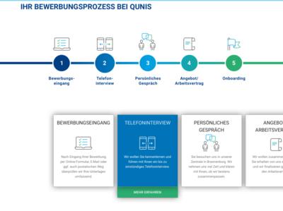 QUN - Screen for online application