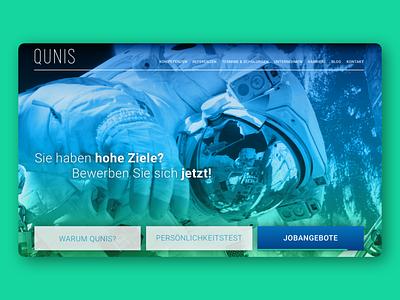 QUNIS - Concept Design animation web concept webdesign ui typography corporate design