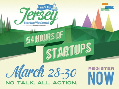 Front side of flyer for Startup Weekend