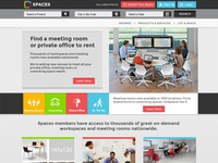 Spaces Homepage
