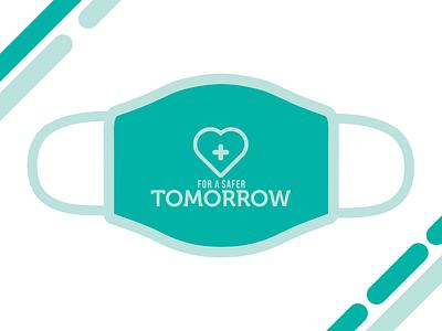 'For a Safer Tomorrow' –  Design For Good Face Mask Challenge covid-19 illustration tomorrow safer safe facemask mask face good design
