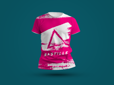 Bastille dribbbleweeklywarmup alternative music shirt design shirt graphic bastille pink